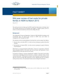Mid year review of fuel costs for private ferries in NSW to ... - IPART