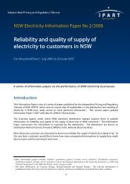 NSW Electricity Information Paper No 2/2008 - IPART