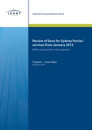 Review of fares for Sydney Ferries' services from January 2013