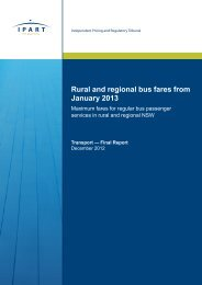 Rural and regional bus fares from January 2013 - IPART - NSW ...