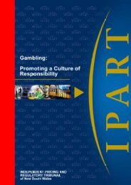 Gambling: Promoting a Culture of Responsibility - IPART - NSW ...