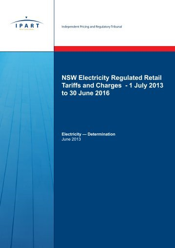 1 July 2013 to 30 June 2016 - IPART - NSW Government