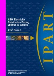 NSW Electricity Distribution Pricing 2004/05 to 2008/09