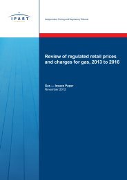 Review of regulated retail prices and charges for gas, 2013 to 2016