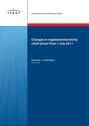Changes in regulated electricity retail prices from 1 July 2011 – June