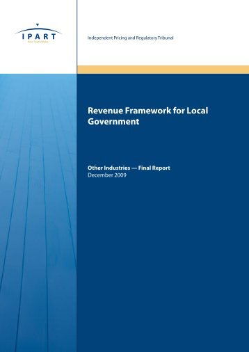 Revenue Framework for Local Government - IPART - NSW ...