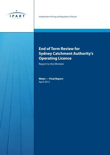 End of Term Review for Sydney Catchment Authority's Operating ...