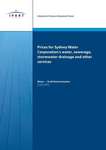Draft Determination - Sydney Water Corporation - March 2012