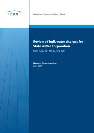 Review of bulk water charges for State Water Corporation - From 1 ...