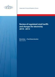 Review of regulated retail tariffs and charges for electricity 2010 - 2013