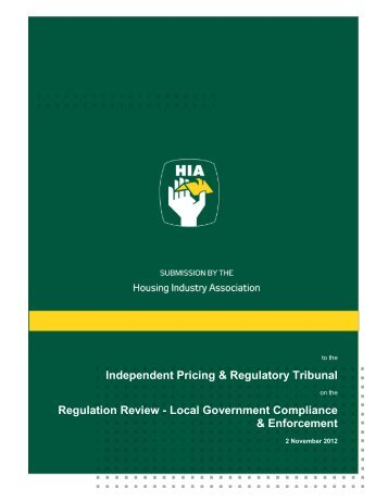 IPART Local Government Compliance Enforcement Review - HIA