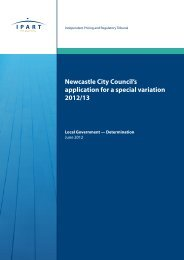 Newcastle City Council's application for a special variation 2012/13
