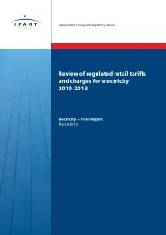 Review of regulated retail tariffs and charges for electricity 2010-2013