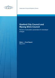 Gosford City Council and Wyong Shire Council - IPART - NSW ...