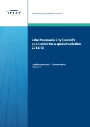 Lake Macquarie City Council's application for a special ... - IPART