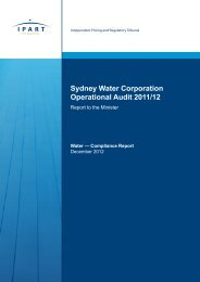 Sydney Water Operational Audit 2011/2 - IPART - NSW Government