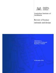 Review of licence rationale and design - Australian Institute of ...