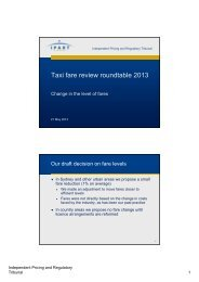 Taxi fare review roundtable 2013 - IPART
