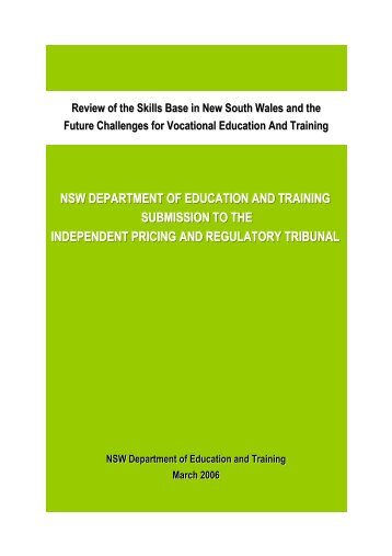 NSW Department of Education and Training - IPART - NSW ...
