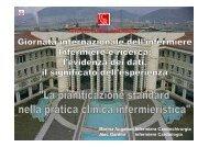 Le Pianificazioni Standard nella pratica clinica infermieristica
