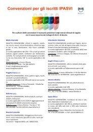 Convenzioni per gli iscritti IPASVI - Collegio IP.AS.VI. di Brescia
