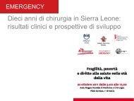 Dieci anni di Chirurgia in Sierra Leone: risultati clinici e prospettive ...
