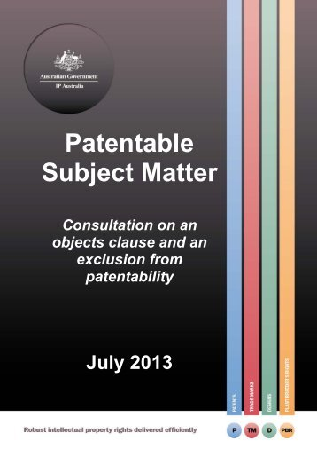 Consultation on an Object Clause and an Exclusion from Patentability