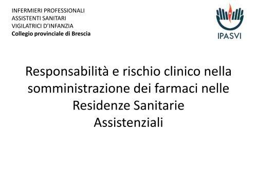 Rischio Clinico Somministrazione Farmaci.Cristiano Pelati Dall Approvvigionamento Alla Somministrazione
