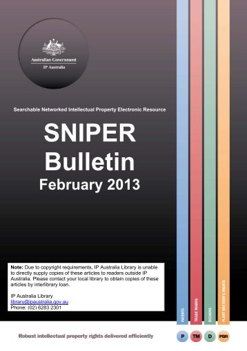 February 2013 PDF - IP Australia