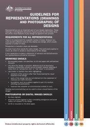 guidelines for representations (drawings designs - IP Australia