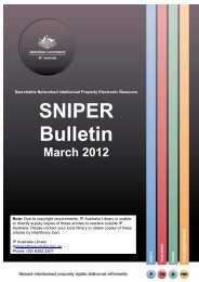 SNIPER Bulletin 2012-03 - IP Australia