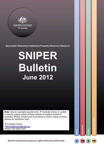 SNIPER Bulletin 2012-06 - IP Australia