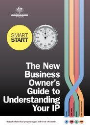 Smart Start - The new business owner's guide to ... - IP Australia