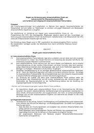 Regeln zur Sicherung guter wissenschaftlicher Praxis am Leibniz ...