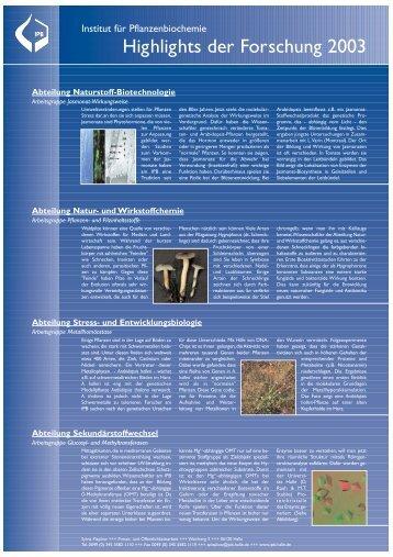 Download als PDF-Datei - Leibniz-Institut für Pflanzenbiochemie