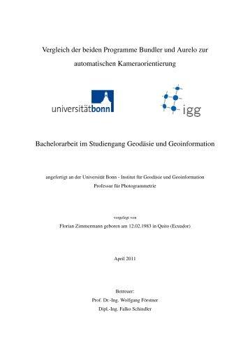 Download - Institut für Photogrammetrie - Universität Bonn