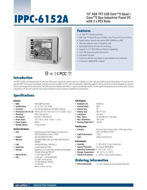 DOWNLOAD DRIVER: ADVANTECH IPPC-Q45(6192A/6172A/6152A)