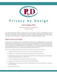 Privacy by Design - Information and Privacy Commissioner of Ontario