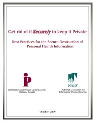 Get rid of it Securely to keep it Private - Information and Privacy ...