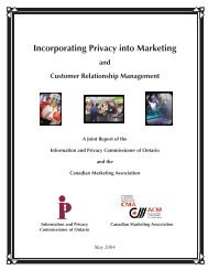 Incorporating Privacy into Marketing and Customer Relationship ...