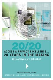 20 years in the making - Information and Privacy Commissioner of ...