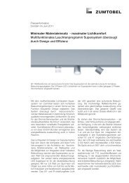 Minimaler Materialeinsatz - maximaler Lichtkomfort Multifunktionales ...