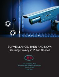 Surveillance, Then and now: Securing Privacy ... - Privacy By Design