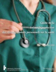 Guide de la Loi sur la protection des renseignements personnels sur ...