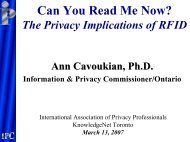 Can You Read Me Now? The Privacy Implications of RFID
