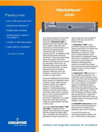 Mediahawk® - Concurrent Computer Corporation