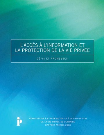 Ouvrir le document - Information and Privacy Commissioner of Ontario