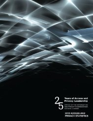 2012 Access and Privacy Statistics - Information and Privacy ...