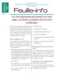 Feuille-info #02 - Les renseignements personnels sur votre Les ...