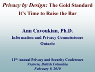 Privacy by Design: The Gold Standard – It's Time - Information and ...